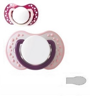 "2 Pack ""Dots Garnet/Happy Purple (pink)"""